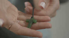 Holding Cross Necklace