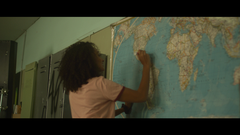 Woman Marking On Map