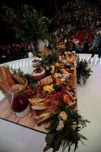 Communion table displayed on center stage